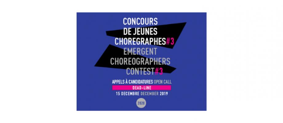 APPEL À CANDIDATURES - CONCOURS DE JEUNES CHORÉGRAPHES DE BALLET - 3e édition